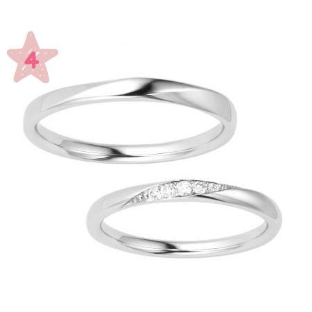 ポンテヴェキオ ペア結婚指輪 モルビド