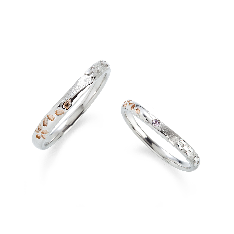 琉球のモチーフの結婚指輪