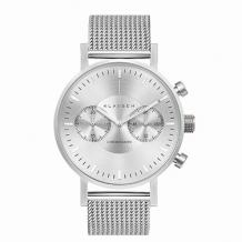 VOLARE CHRONOGRAPH Silver with Mesh Band 42mm VO15CH002M